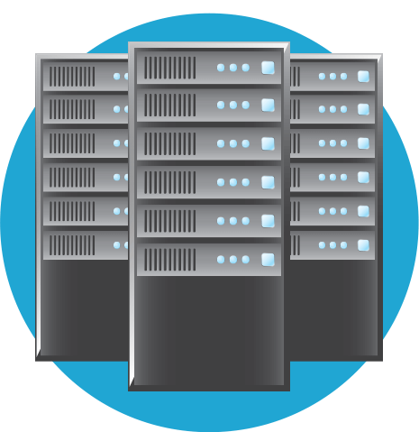 Data is sent from your web hosting server