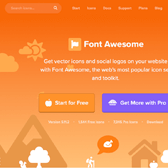 creenshot of fontawesome.io website