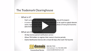 Trademark Clearinghouse Primer video